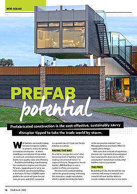 Insite Magazine mitre 10 jmb modular builder innovative design home prefab