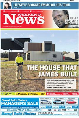 jmb modular builder shepp news newspaper front cover james briggs house kialla