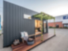 jmb modular builder shepparton port display home design black cladding