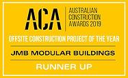 jmb modular builder australian construction awards 2019 offsite construction project runner up innovative design shepparton