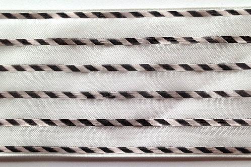 Black & White Roped Organza