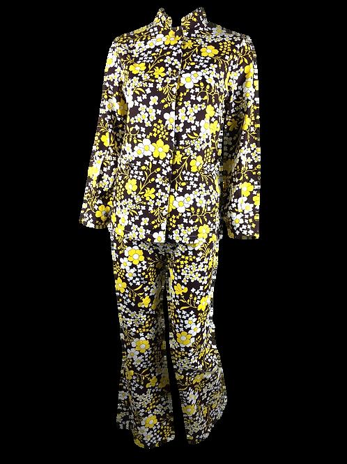 Flower Printed Trouser Suit