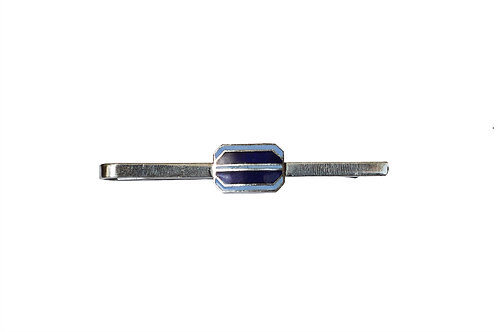 Silver and Blue Tie Clip