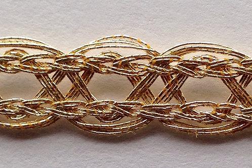 Metallic Gold with Scalloped Edge