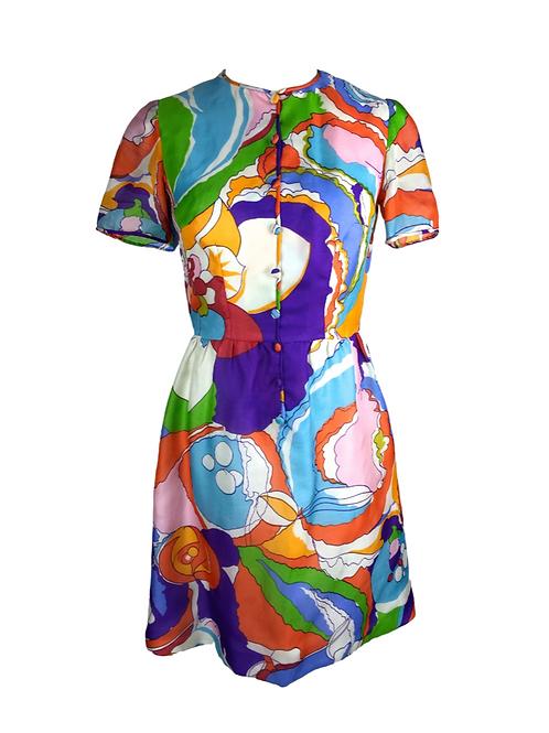 Acid Print Tea Dress