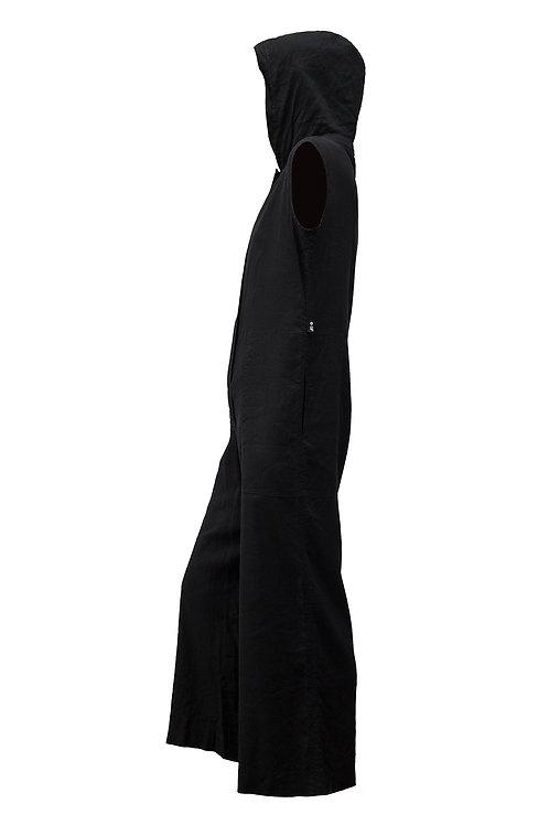Gianfranco Ferre Black Hooded Jumpsuit