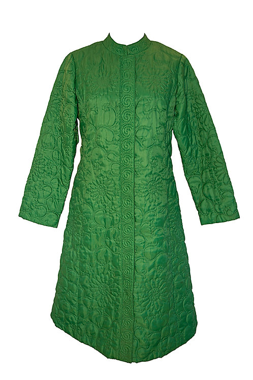 Green Oriental 1960s Coat