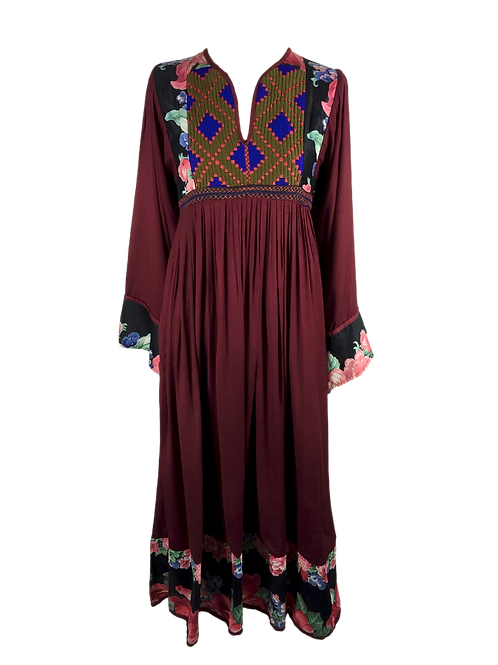 Mixed Fabric Kuchi Tribe Dress