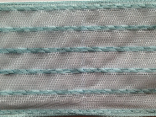 Sea Foam Green Detailed Organza