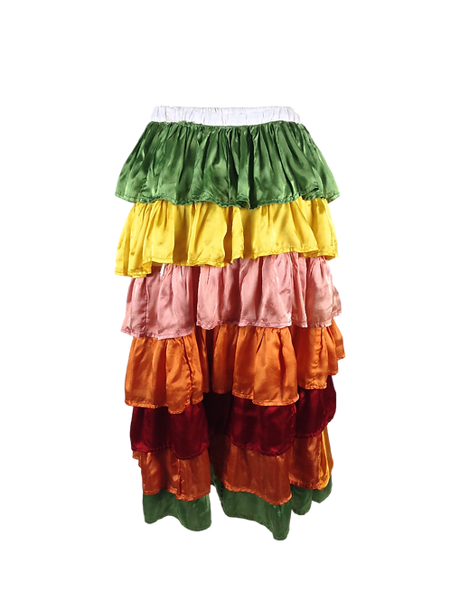 SOLD! Multi Colored Tiered Skirt