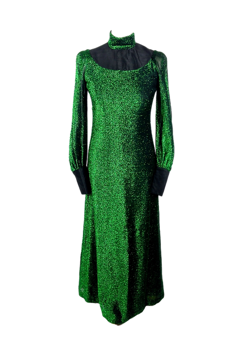 Quad Green Lurex Dress