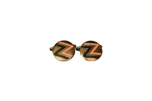 Brass Round Cufflinks