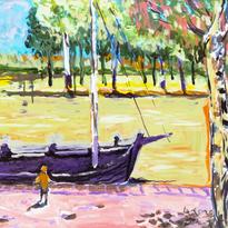 No.013〈河岸邊的船〉