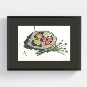 果盤與花草