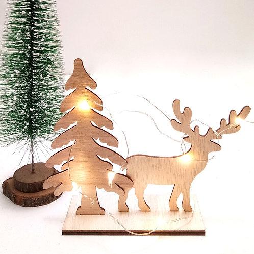 Creative DIY Wooden Crafts Christmas Reindeer