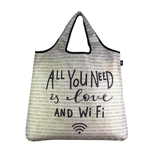 Reusable YaYbag ORIGINAL size - Love and WiFi