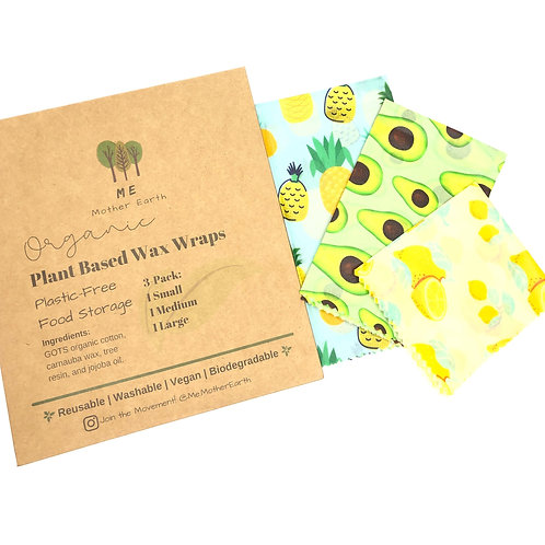 Plant Based Wax Food Wraps 3-Pack