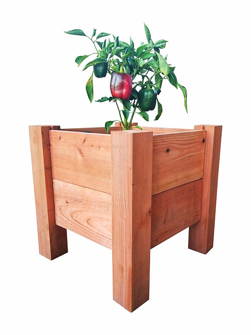 Redwood Elevated Garden Bed, 1' x 1' x 16""