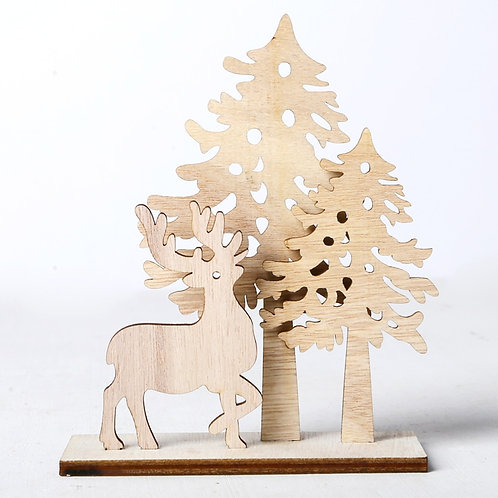 Creative DIY Wooden Crafts Christmas Santa