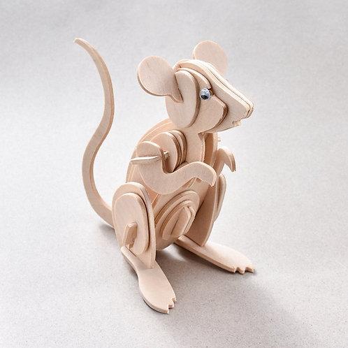 3D Wooden Mouse DIY Kit