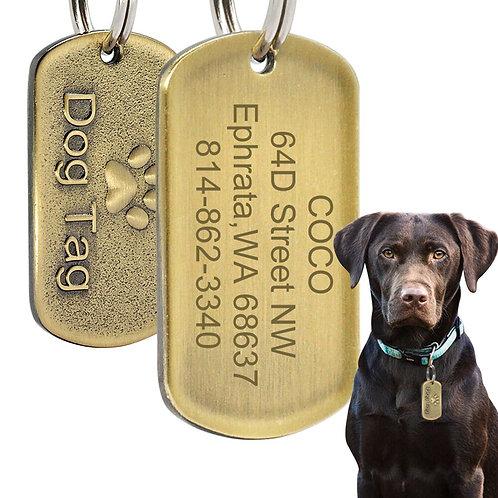 Custom Engraved Dog Tag Medium Large Pet Stainless