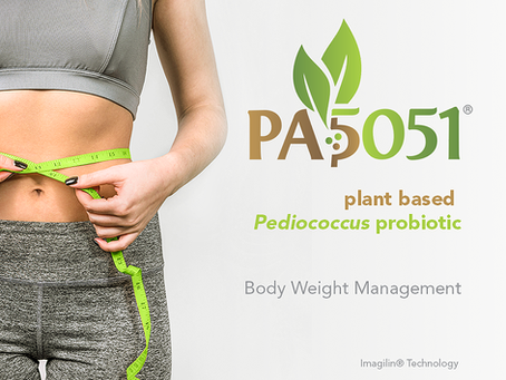 Plant Based Pediococcus probiotic (PA5051®) shows effects on weight management