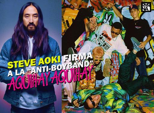 Steve Aoki firma a AQUIHAYAQUIHAY a su nuevo sello discográfico de música latina