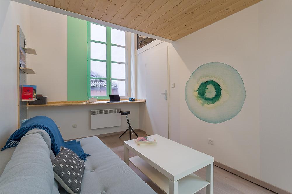 Studio dans les pentes de la Croix-Rousse © lalaklak, décoratrice Lyon 4 Croix-Rousse