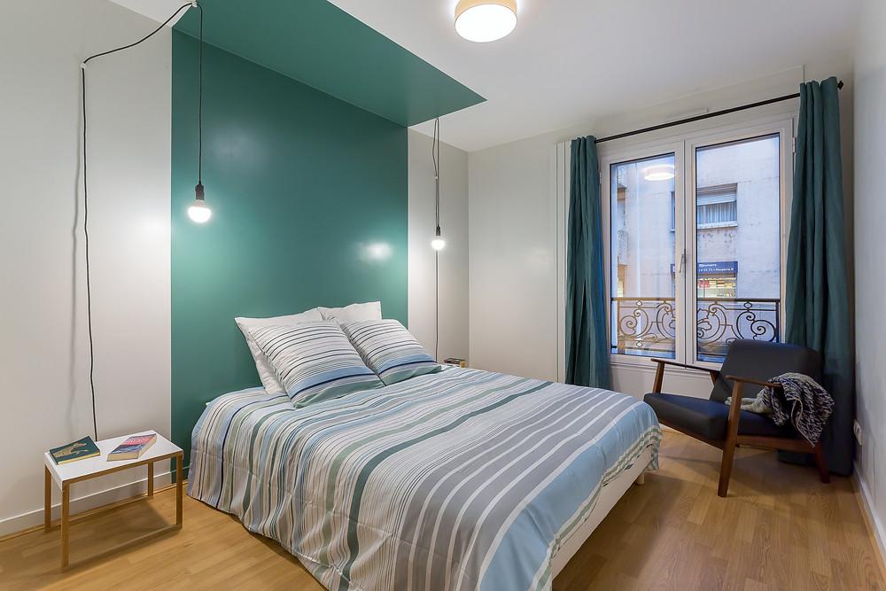 Chambre parentale © lalaklak, décoratrice et architecte d'intérieur Lyon 4 Croix-Rousse