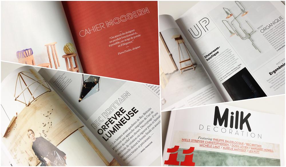 Magazine Milk. Montage photo lalaklak, décoratrice et architecte d'intérieur Lyon 4 Croix-Rousse