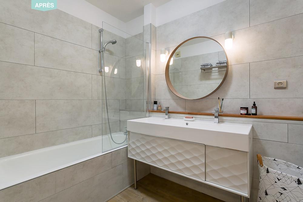 Avant-après salle de bain © lalaklak, décoratrice et architecte d'intérieur Lyon 4 Croix-Rousse