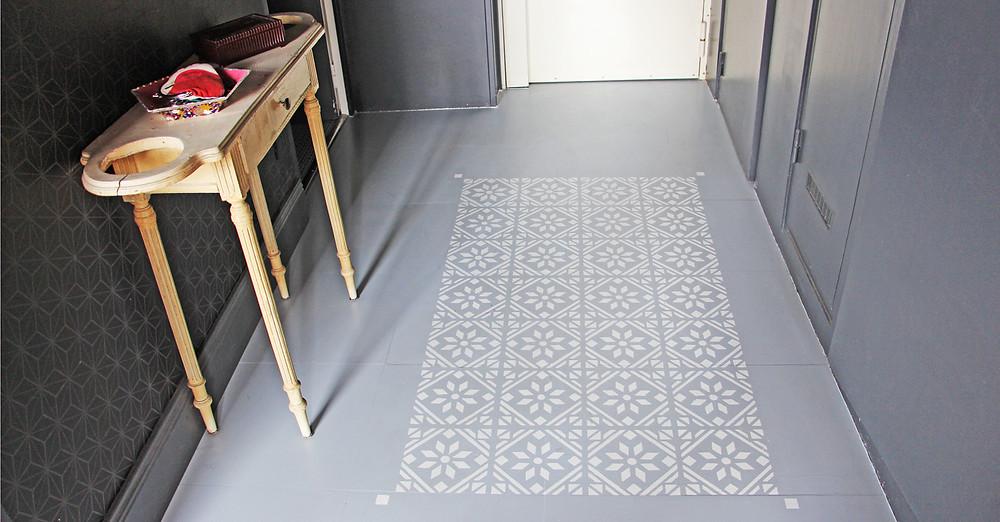 Tuto tapis peint © lalaklak, décoratrice et architecte d'intérieur Lyon 4 Croix-Rousse