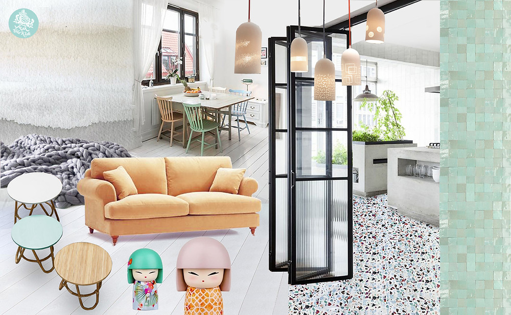 ambiance pastel zen © lalaklak, décoratrice et architecte d'intérieur Lyon 4 Croix-Rousse