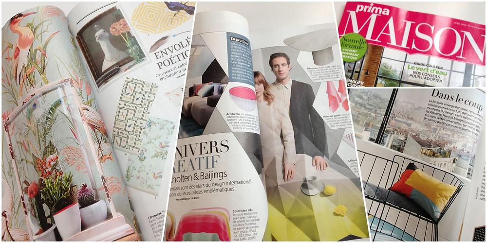 MagazinePrima Maison. Montage photos lalaklak, décoratrice et architecte d'intérieur Lyon 4 Croix-Rousse