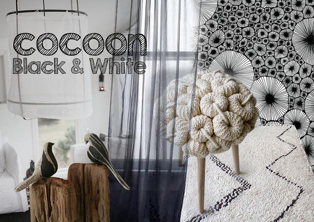 Cocoon B&W © lalaklak, décoratrice et architecte d'intérieur Lyon 4 Croix-Rousse