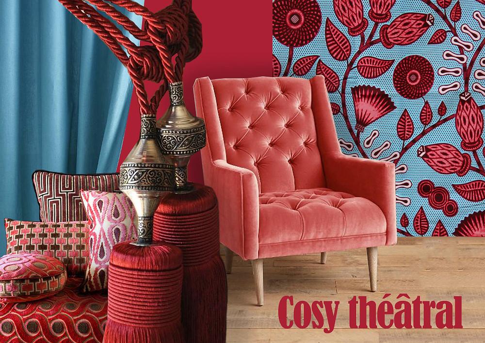 Cosy théâtral © lalaklak, décoratrice et architecte d'intérieur Lyon 4 Croix-Rousse