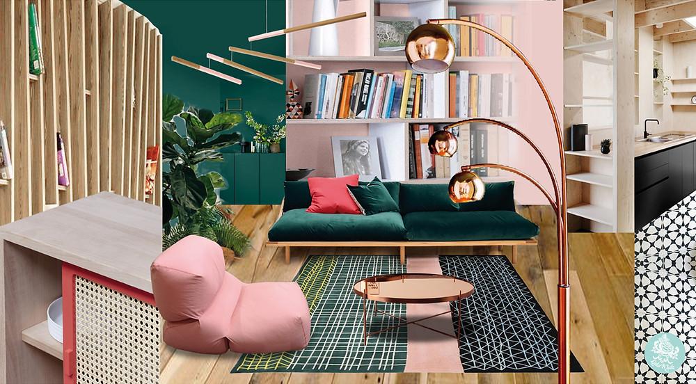Ambiance Cocon bohème © lalaklak, décoratrice et architecte d'intérieur Lyon 4 Croix-Rousse