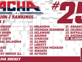 Alabama Cracks ACHA Top-25