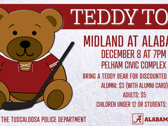 Alabama Hockey Hosting Second Annual Teddy Toss