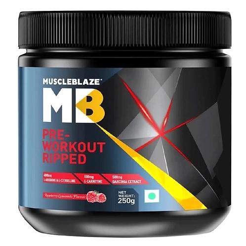 MuscleBlaze Pre Workout Ripped 250GM