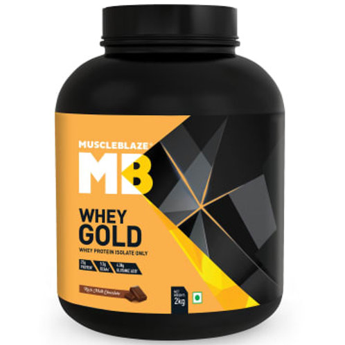 MuscleBlaze Whey Gold Protein, 4.4 lb, Rich Milk Chocolate