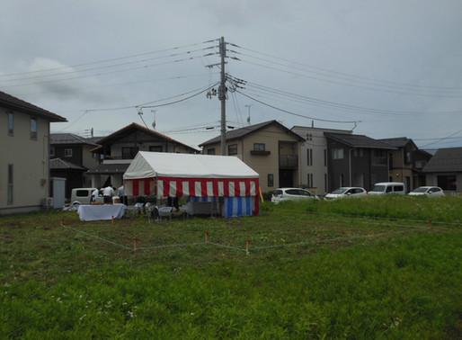 村上にて地鎮祭でした