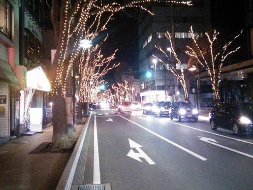 新潟駅南口けやき通りの光のページェント