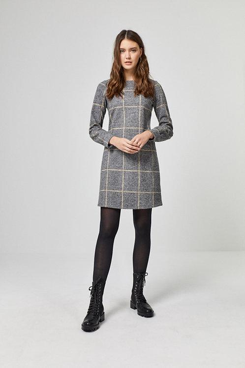 Surkana | Robe droite motif à carreaux