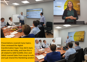SAM GUARD's First Sales Training – What a Week!