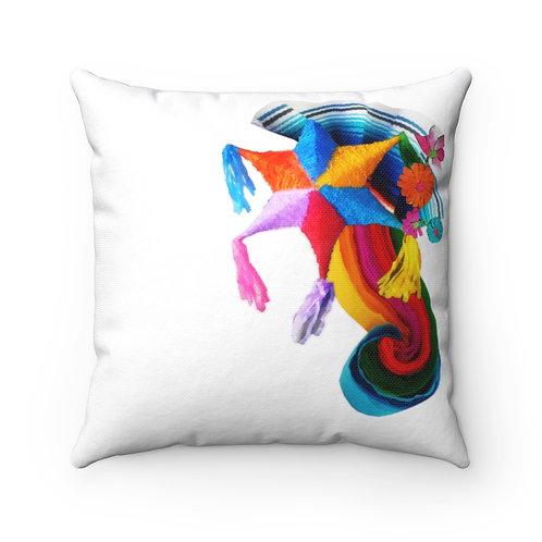 Fiesta Home Decor Spun Polyester Square Pillow