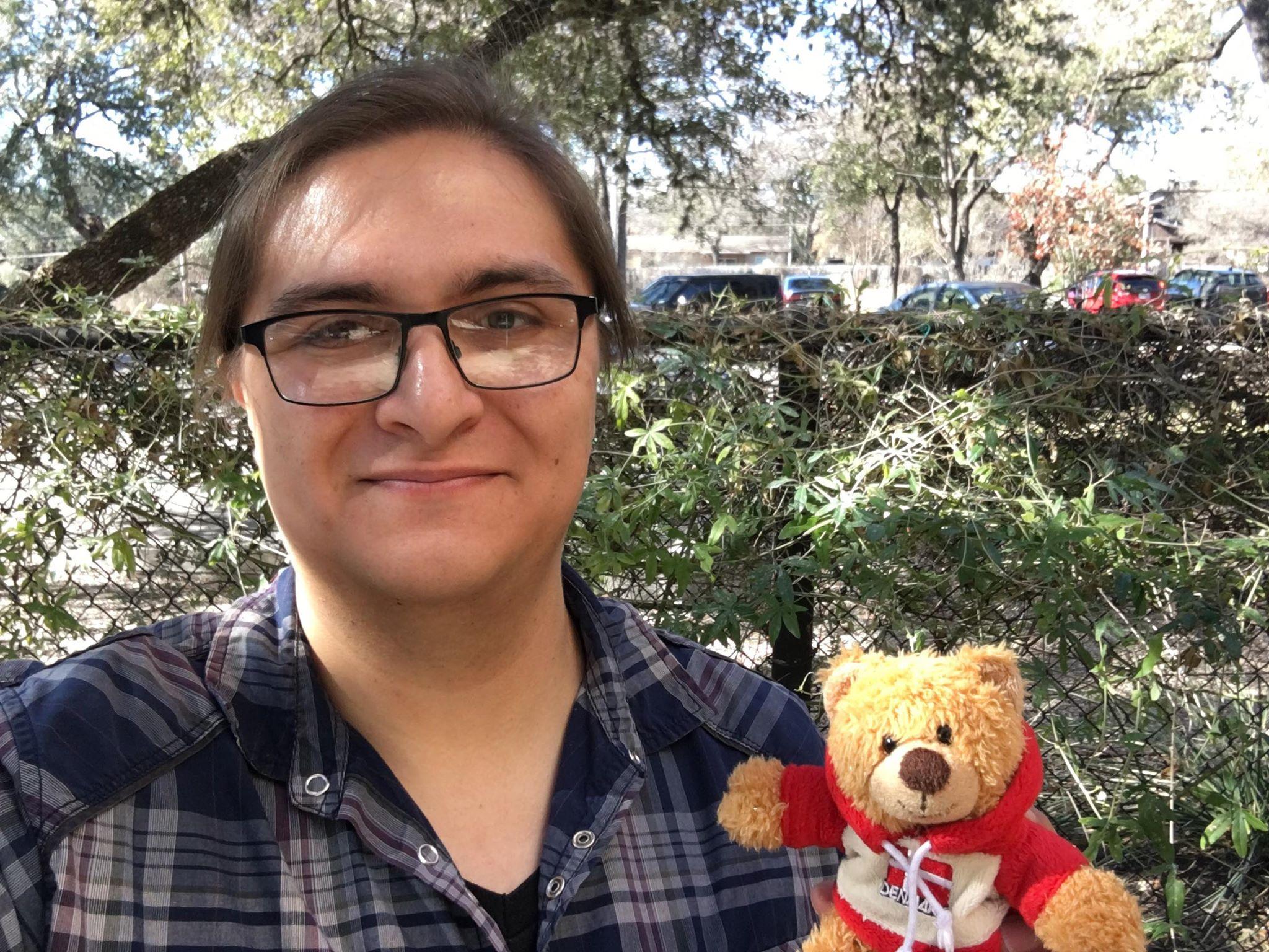 Phil Luna and Peri Bear