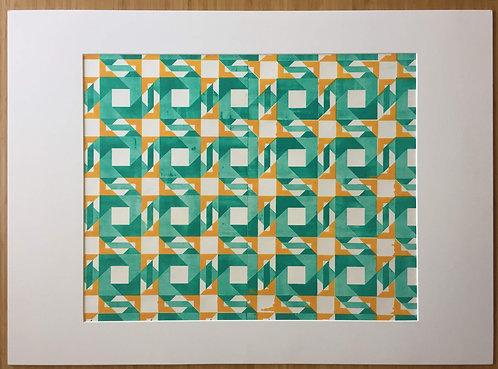 Green & Orange Squares