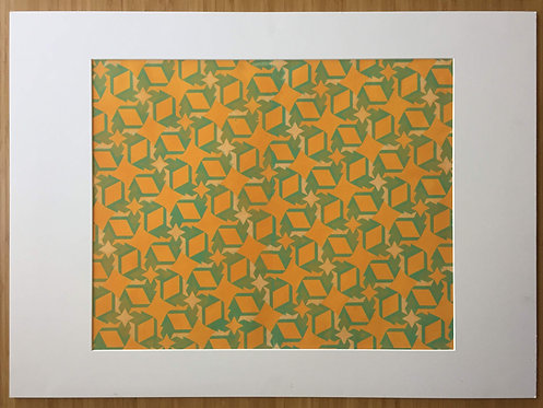Orange & Green Stars