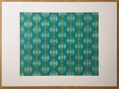 Blue & Green Hexagons